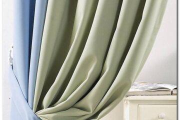 Những mẫu rèm cửa màu xanh đẹp, hợp phong thủy