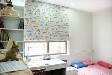 Rèm vải thiết kế theo phong cách hiện đại căn hộ Homecity Trung Kính